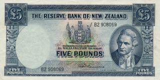 The Reserve Bank Zealand 5 Pounds Nd Ef photo