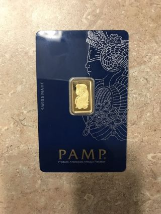 Pamp Suisse 2.  5 Gram 999.  9 Gold Bar photo