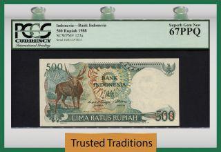 Tt Pk 123a 1988 Indonesia 500 Rupiah