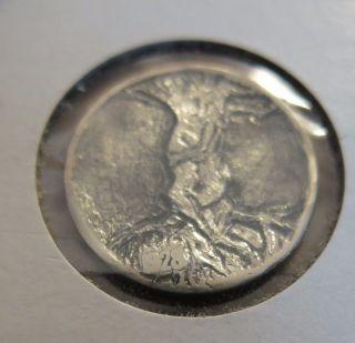 Vintage Hobo Nickel 1928 Ask & Embla Norse Mythology photo