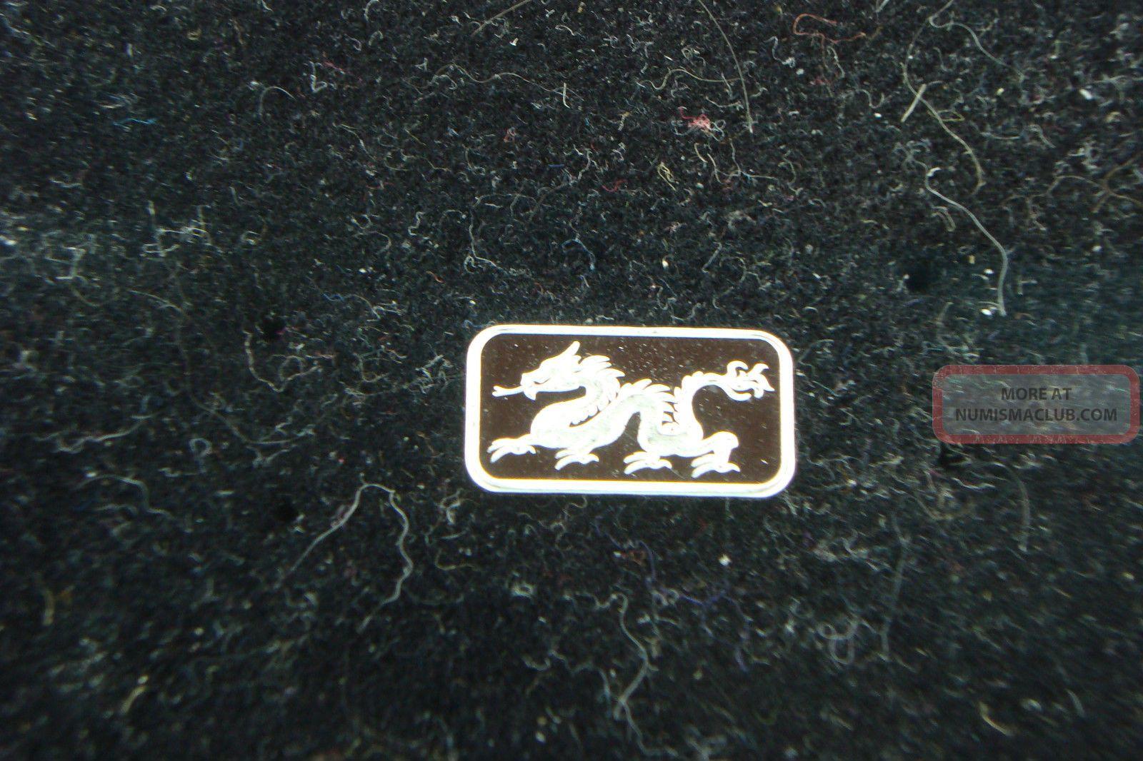 Dragon 1 Gram 999 Fine Silver Bar Coin Bullion Symbol For Power