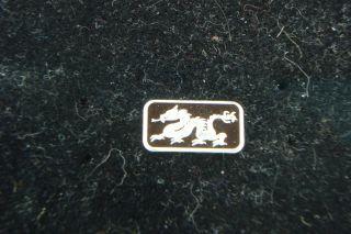 Dragon 1 Gram.  999 Fine Silver Bar Coin Bullion Symbol For Power Strength & Luck photo