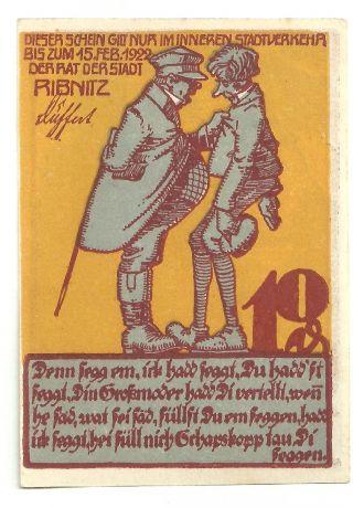 Germany Ribnitz Notgeld 10 Pfg.  1922 (approxi. ) Anti - Semitic Judaica Uncirculated photo