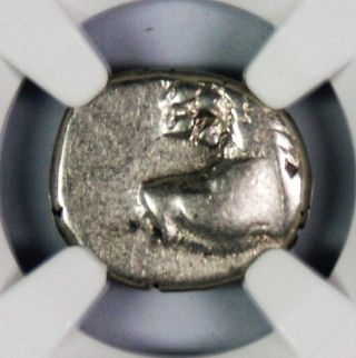 Ancient Greek Thracian Chersonesus Ar Hemidrachm Lion 4th Century Bc Ngc F photo