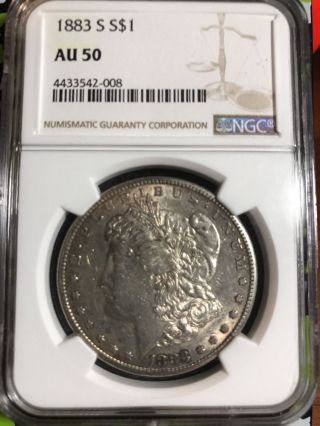 1883 - S Morgan Silver Dollar $1 Ngc Au - 50 Key Date photo
