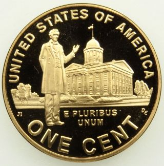 2009 S Deep Cameo Proof Lincoln Professional Life Cent Penny (b05) photo