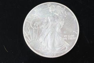 1999 Silver American Eagle 1 Oz Bullion Coin $1 Fine Silver 999 E308 photo