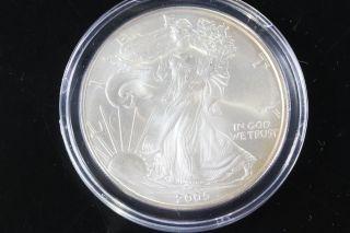 2005 Silver American Eagle 1 Oz Bullion Coin $1 Fine Silver 999 E305 photo