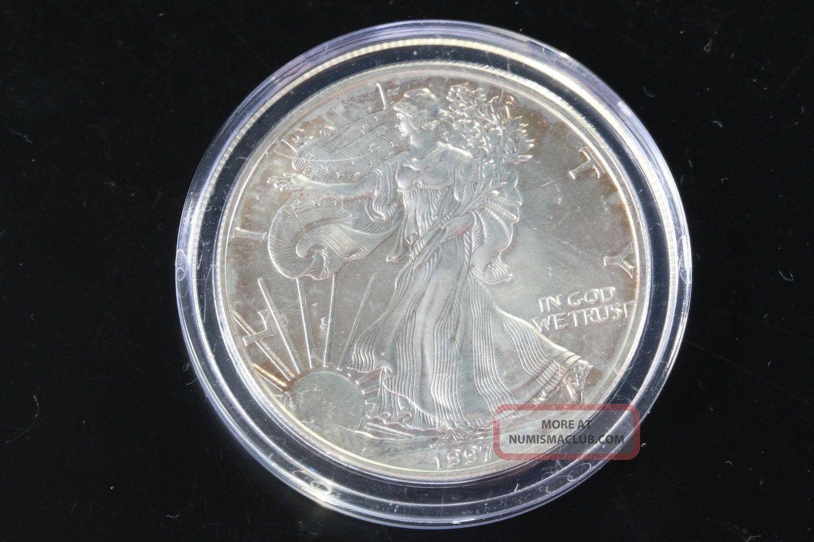 1997 Silver American Eagle 1 Oz Bullion Coin 1 Fine