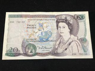 Bank Of England 1981 - 84 20 Pounds [gvf - Aef Condition] photo