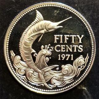 1971 Bahamas 50 Cents Silver Asw.  265 Gem Proof photo