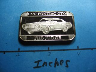 1970 Pontiac Gto The Judge Muscle Car 999 Silver Bar Very Rare To See These B photo