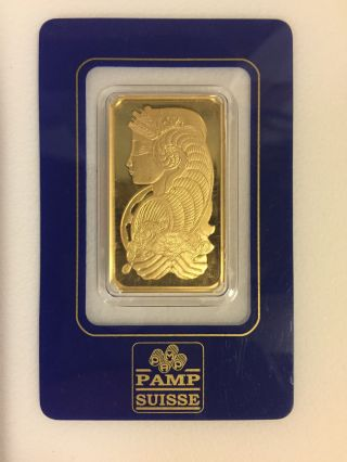 1 Oz Gold Bar Pamp Suisse Lady Fortuna (in Assay) - Ebay photo