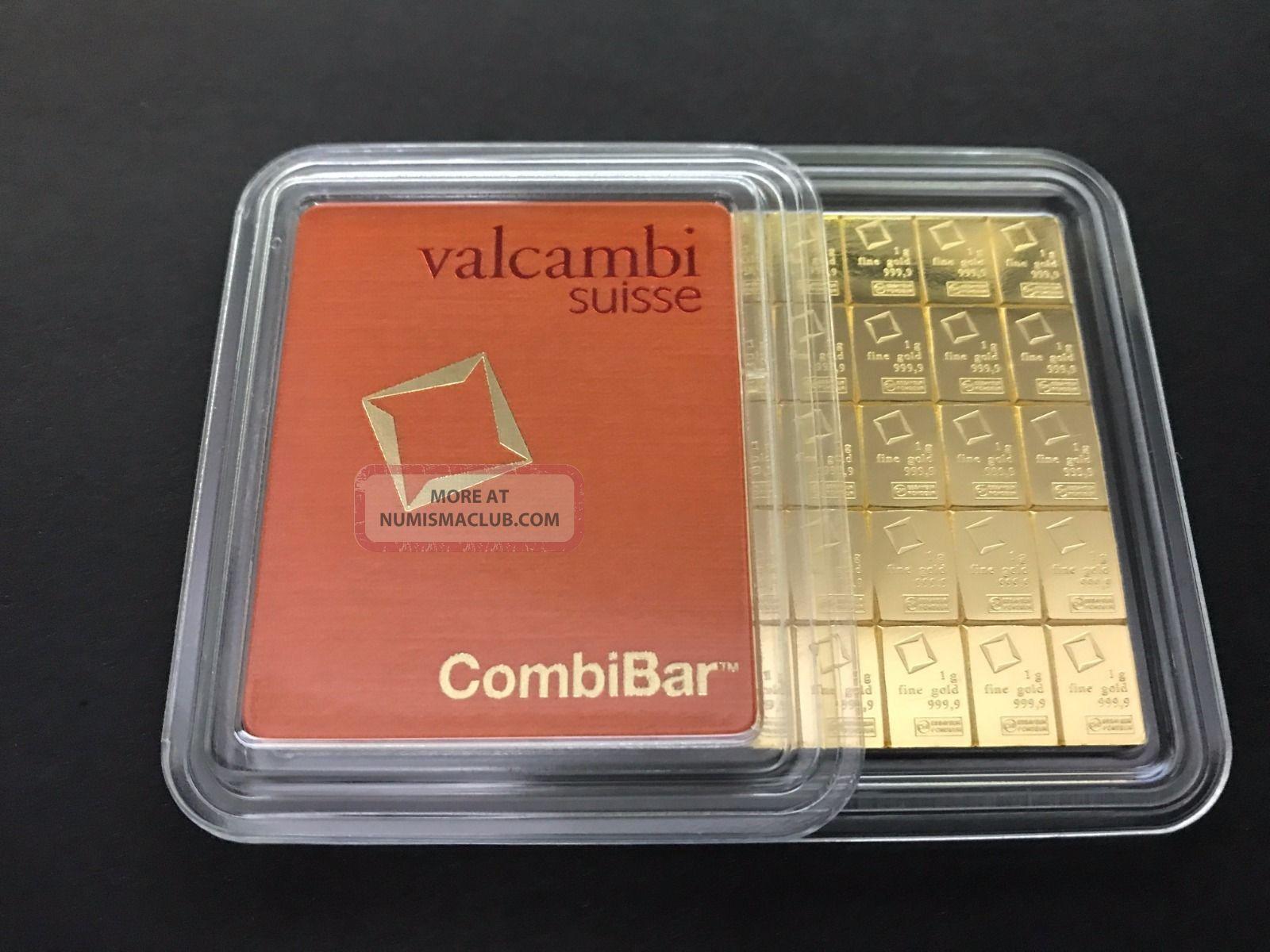 1 Gram Valcambi Suisse 9999 Fine Gold Bar Gold Cert