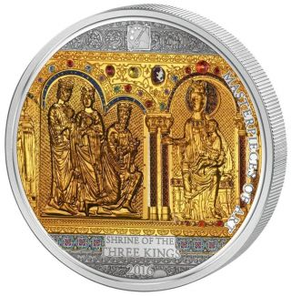 Cook 2016 $20/25 Masterpieces Of Art Shrine Of The Three Kings Silver Gold Coin photo