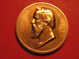1877 Rutherford Hayes Bronze Medal United States Inauguration Medal photo