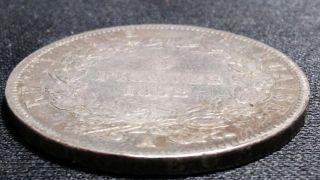 1852 - A Louis - Napoleon Bonaparte 5 Francs Silver Coin photo