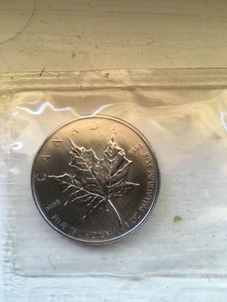 1 Oz Palladium 2005 Canadian Maple Leaf (random Year) photo