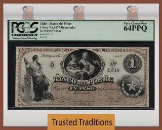 Tt Pk S361r Chile 1877 1 Peso