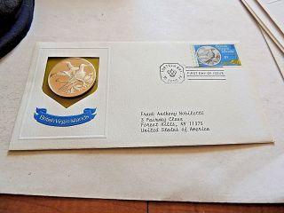 1973 British Virgin Islands Proof One Dollar Silver Coin With C.  O.  A. photo