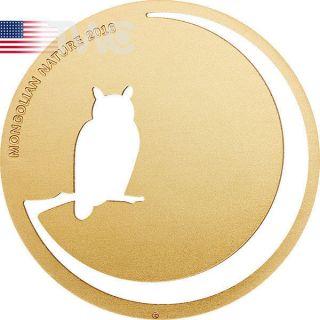 Mongolia 2016 500 Togrog Owl Mongolian Nature 2016 Bu Silver Coin photo