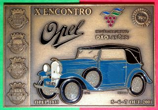 German Car / Opel Model 1933 / Enamel 2001 Bronze Medal / Classic Cars photo