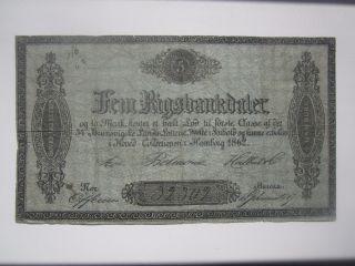 1862 Denmark Lottery Ticket photo