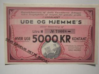 1937 Denmark Advertising Money photo