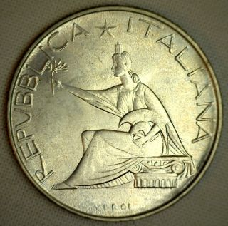 1961 Italy 500 Lire Silver Coin photo