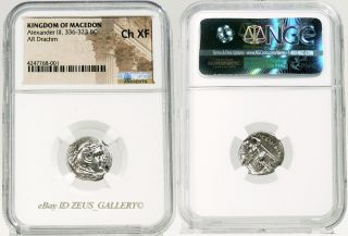 Ngc Rr Choice Xf Alexander The Great Herakles Lifetime Ancient Greek Silver Coin photo