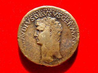 Lucernae Nero Claudius Drusus,  Orichalcum Sestertius.  Roma.  Ti Clavdivs Caesar photo