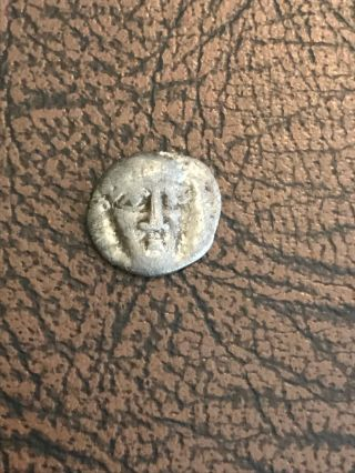 Campania Phstelia Ca.  380 - 350 B.  C.  Ar Obol Lion Standing Ancient Greek Coin photo
