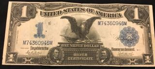 1899 $1 Silver Certificate,  Black Eagle,  Circulated, photo