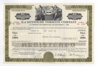 R.  J.  Reynolds Tobacco Company Bond photo