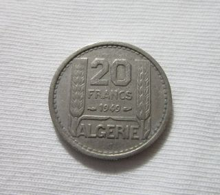 French Algeria.  20 Francs,  1949. photo