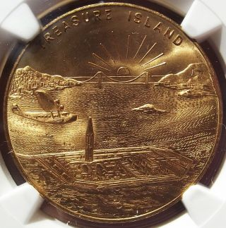 1939 Treasure Island Token - Golden Gate Exposition,  Hk481,  Ms64 Ngc - Medal photo