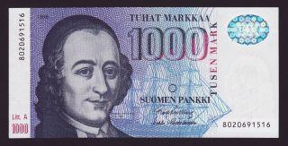 Finland - 1000 Markkaa,  1986 - P 121 - Unc photo