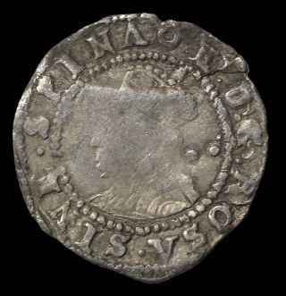 Elizabeth I House Of Tudor 1587 - 1589 Ad Great Britain Silver Halfgroat S.  2579 photo