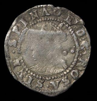 Elizabeth I House Of Tudor 1587 - 1589 Ad Great Britain Silver Halfgroat S.  2579 photo