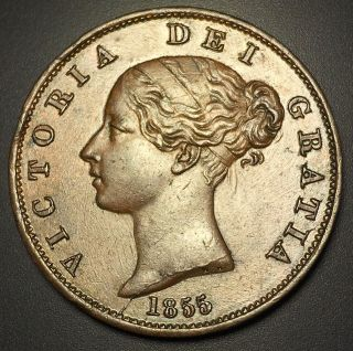 1855 Great Britain 1/2 Penny photo