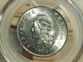 Rare Hebrides (vanuatu) 1973 20 Francs Pcgs Ms 66 Oceania Nickel Coin photo