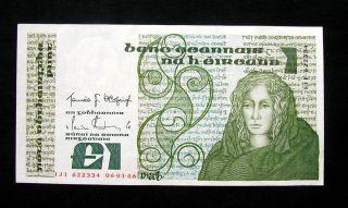 1978/81 Ireland Banknote 1 Pound Xf photo