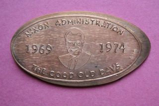 Richard Nixon Administration Elongated Penny Usa Cent 1969 1974 Souvenir Coin photo