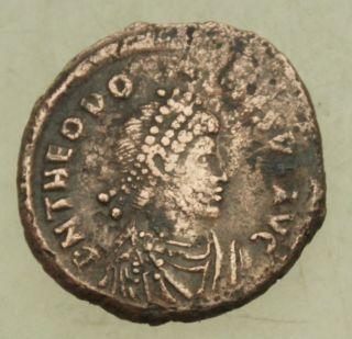 L6 Theodosius I Ae23mm Maiorina 6g Mzst Constantinopol Tma photo