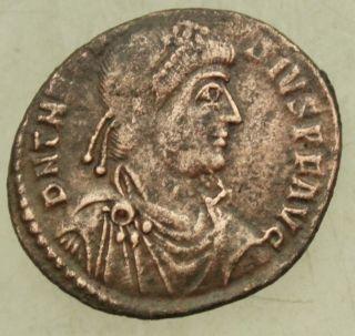 L6 Theodosius I Ae25mm Maiorina 4.  5g Mzst Siscia Tma photo