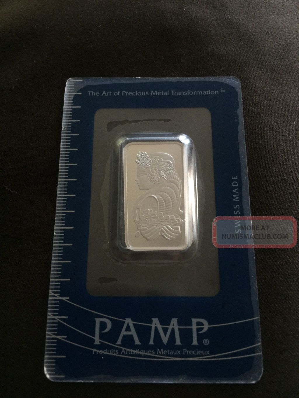 1/2 Oz Platinum Bar - Pamp Suisse (in Assay) Bars & Rounds photo