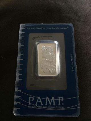 1/2 Oz Platinum Bar - Pamp Suisse (in Assay) photo