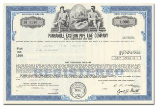 Panhandle Eastern Pipe Line Company Bond Certificate photo