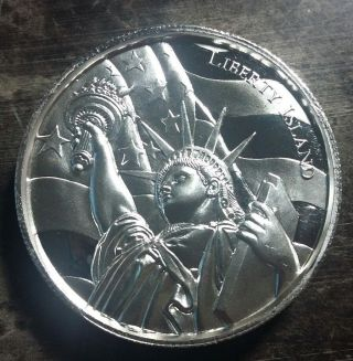 2 Oz Silver Round 2015 American Liberty Island Ultra High Relief 24,  490 Mintage photo
