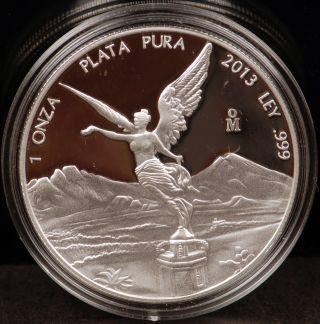 2013 Mexico Proof Silver 1 Oz.  Libertad - Gem photo